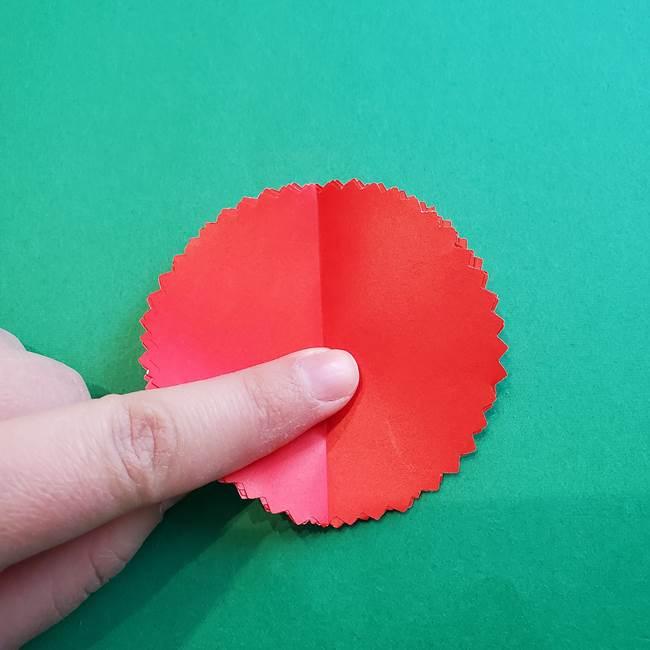 カーネーションの折り紙 本格的でリアルな花の作り方①花(10)