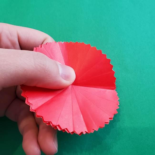 カーネーションの折り紙 本格的でリアルな花の作り方①花(13)