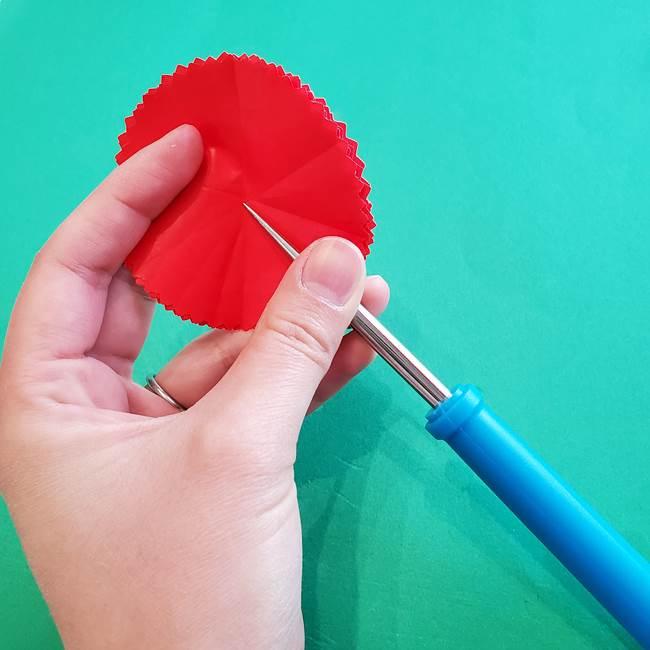 カーネーションの折り紙 本格的でリアルな花の作り方①花(14)