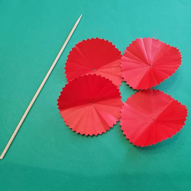 カーネーションの折り紙 本格的でリアルな花の作り方①花(16)