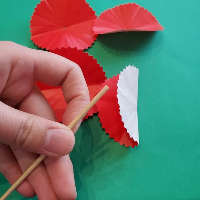 カーネーションの折り紙 本格的でリアルな花の作り方①花(17)