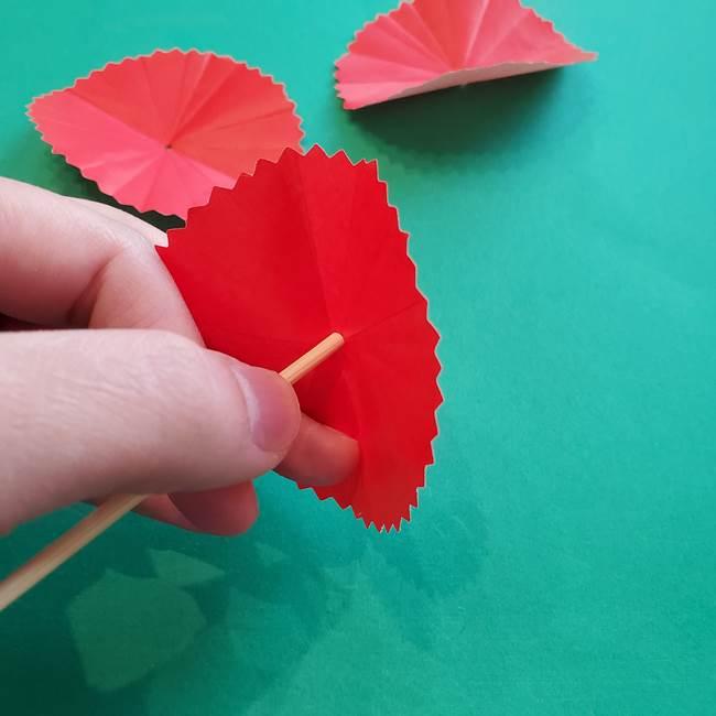 カーネーションの折り紙 本格的でリアルな花の作り方①花(18)