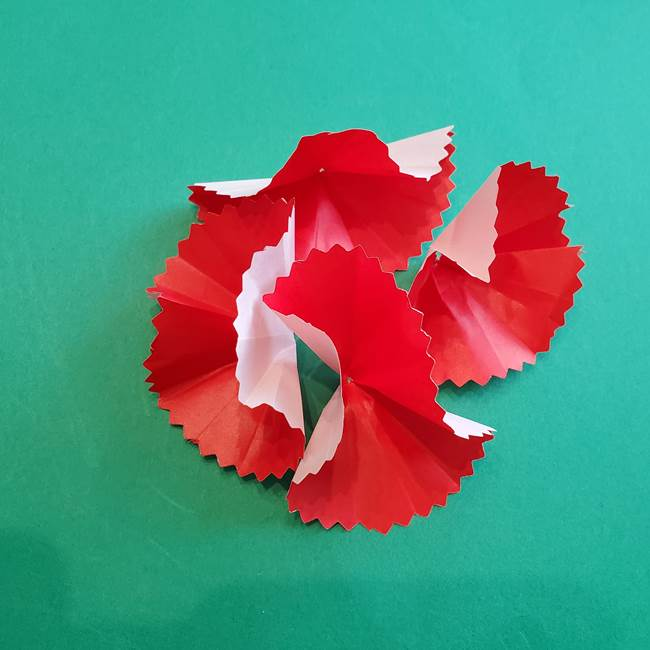 カーネーションの折り紙 本格的でリアルな花の作り方①花(20)