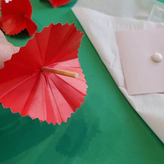 カーネーションの折り紙 本格的でリアルな花の作り方①花(23)