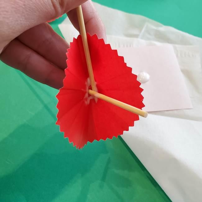 カーネーションの折り紙 本格的でリアルな花の作り方①花(24)