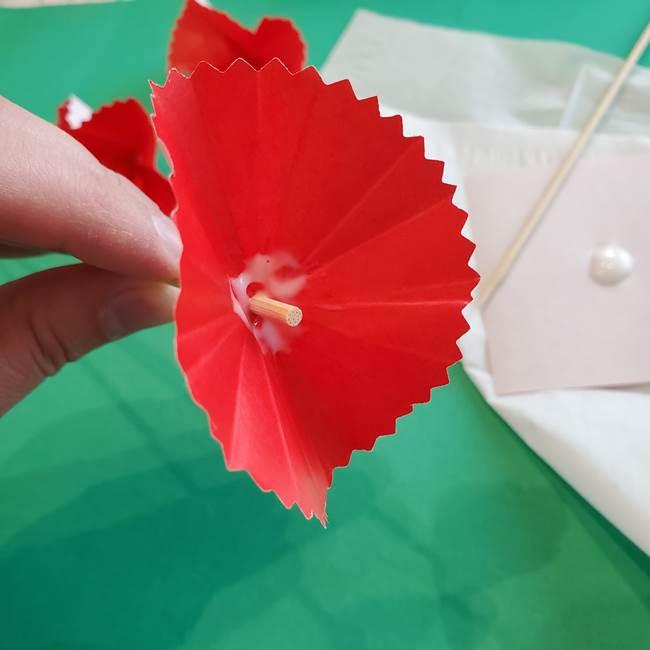 カーネーションの折り紙 本格的でリアルな花の作り方①花(25)