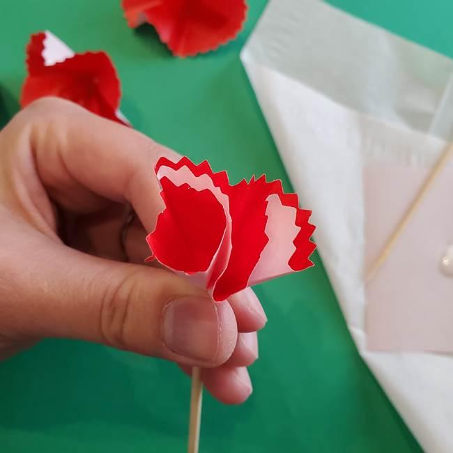 カーネーションの折り紙 本格的でリアルな花の作り方①花(27)