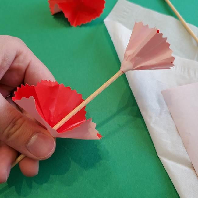カーネーションの折り紙 本格的でリアルな花の作り方①花(29)
