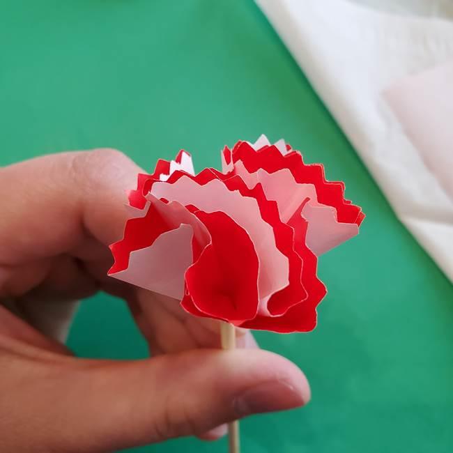 カーネーションの折り紙 本格的でリアルな花の作り方①花(30)