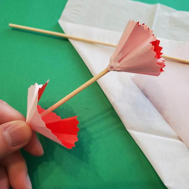 カーネーションの折り紙 本格的でリアルな花の作り方①花(31)