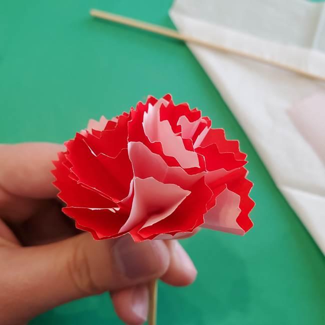 カーネーションの折り紙 本格的でリアルな花の作り方①花(32)
