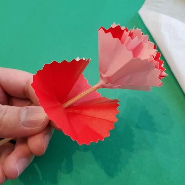 カーネーションの折り紙 本格的でリアルな花の作り方①花(33)