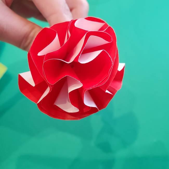 カーネーションの折り紙 本格的でリアルな花の作り方①花(35)