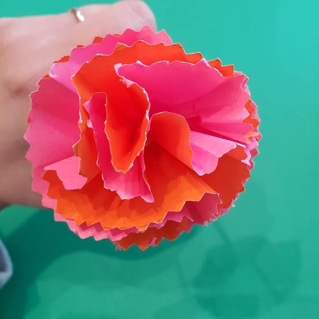 カーネーションの折り紙 本格的でリアルな花の作り方①花(36)