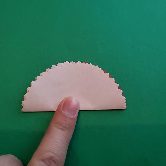 カーネーションの折り紙 本格的でリアルな花の作り方①花(9)