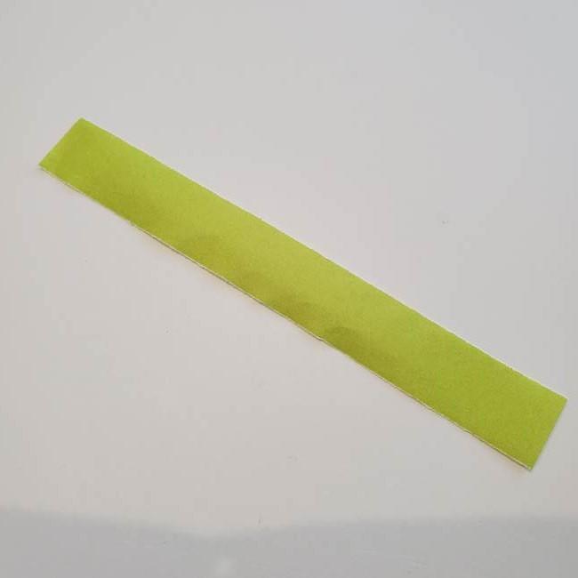 カーネーションの折り紙 本格的でリアルな花の作り方②茎(1)