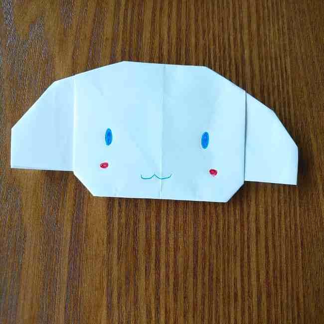 シナモロールの折り紙☆シナモンを簡単な作り方折り方で子供と作ったよ!