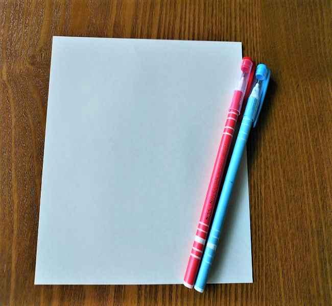 シナモロールの折り紙(シナモン)*用意するもの