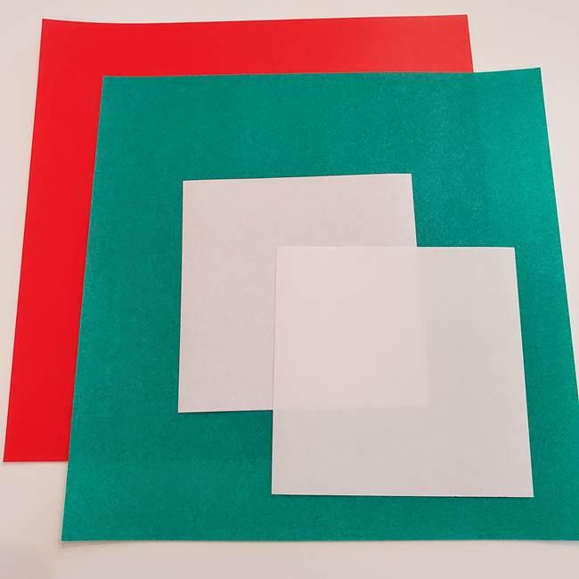 スイカと猫の折り紙 用意するもの(1)