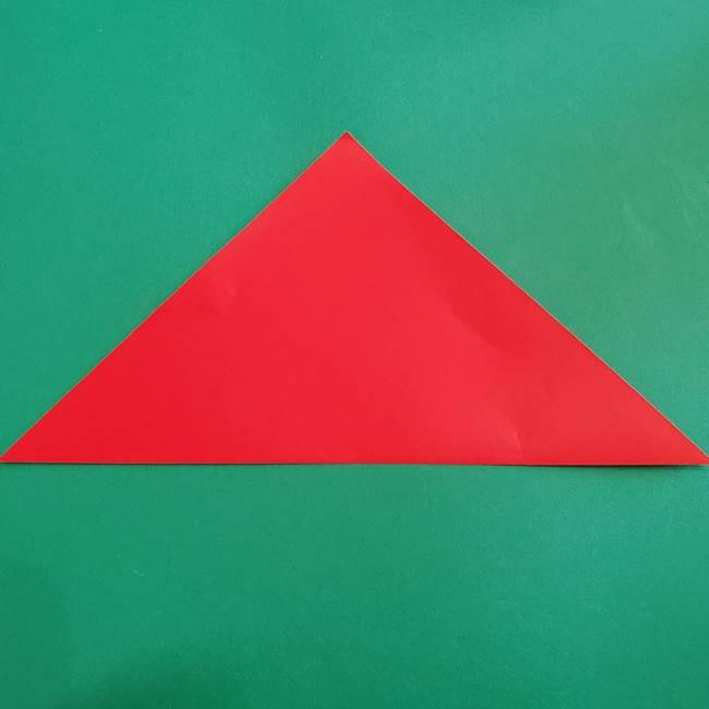 スイカと猫(ネコ)の折り紙は簡単♪①実(2)