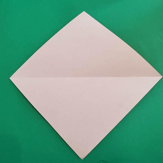 スイカと猫(ネコ)の折り紙は簡単♪①実(3)