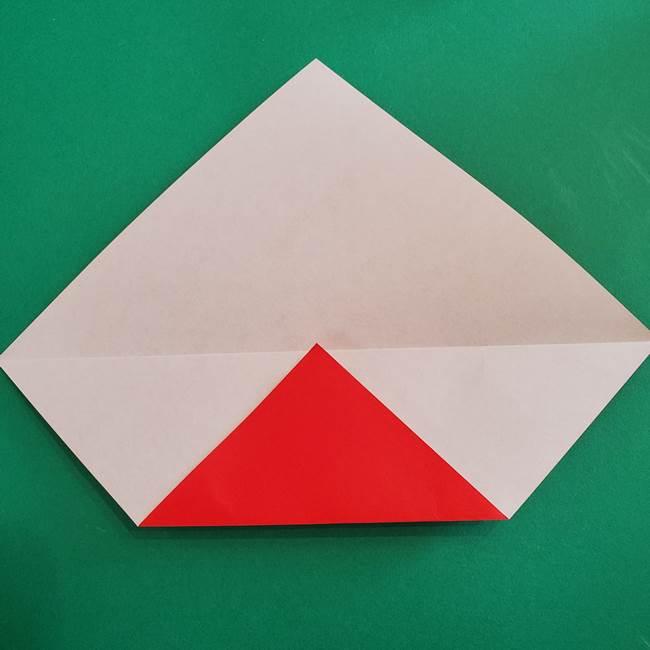 スイカと猫(ネコ)の折り紙は簡単♪①実(4)