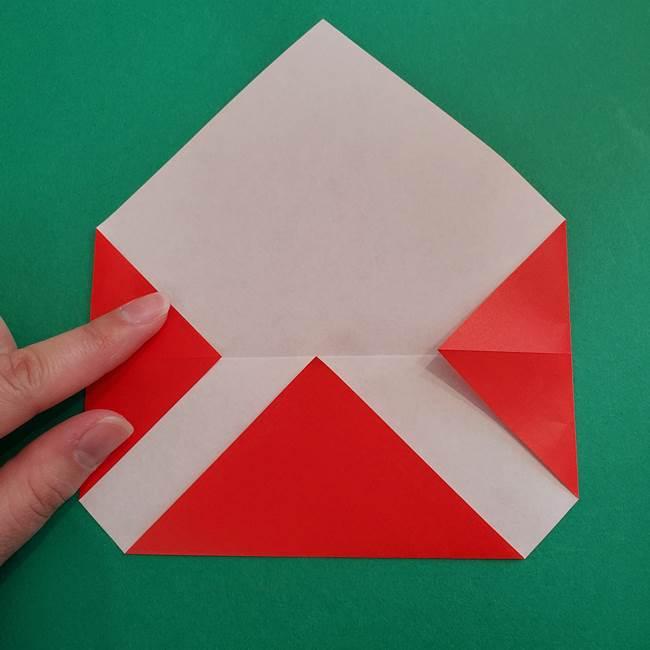 スイカと猫(ネコ)の折り紙は簡単♪①実(5)