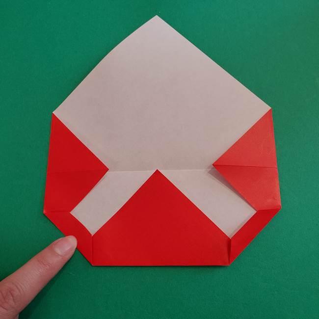 スイカと猫(ネコ)の折り紙は簡単♪①実(6)