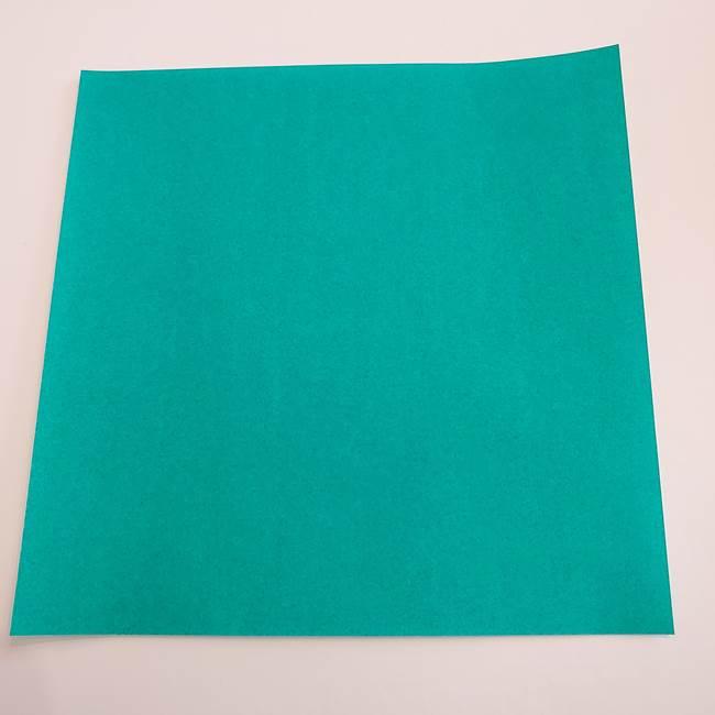 スイカと猫(ネコ)の折り紙は簡単♪②皮(1)