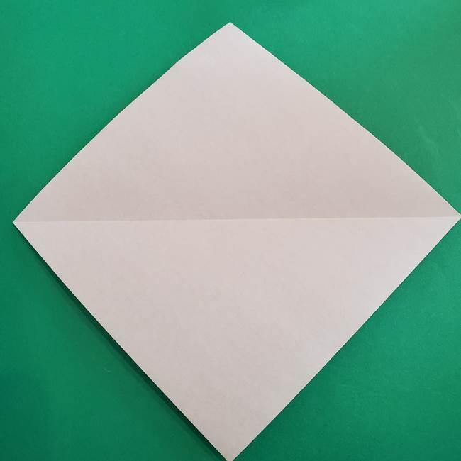 スイカと猫(ネコ)の折り紙は簡単♪②皮(3)