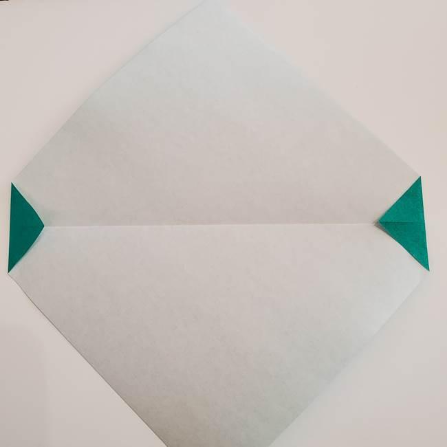 スイカと猫(ネコ)の折り紙は簡単♪②皮(4)