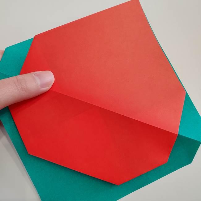 スイカと猫(ネコ)の折り紙は簡単♪②皮(6)