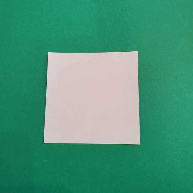 スイカと猫(ネコ)の折り紙は簡単♪③にゃんこ(1)