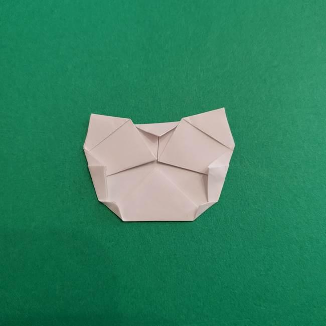 スイカと猫(ネコ)の折り紙は簡単♪③にゃんこ(10)