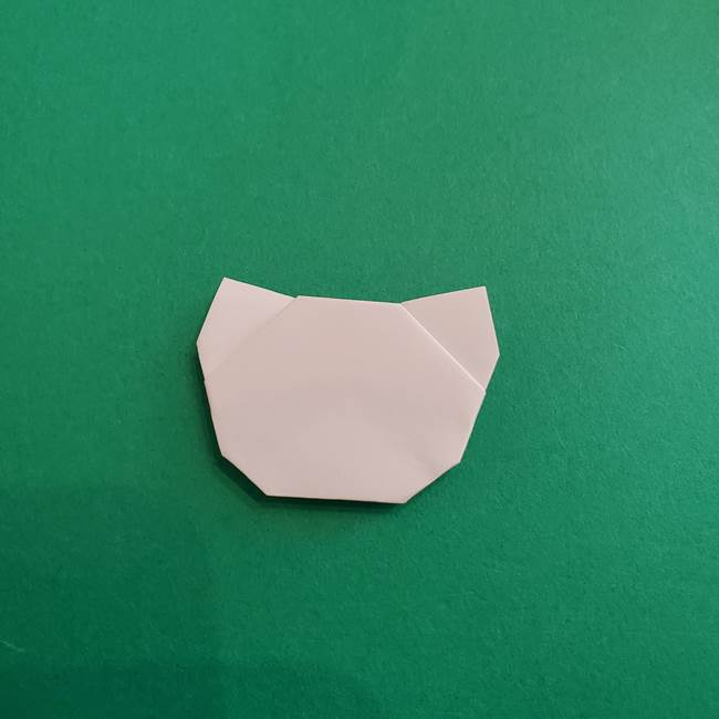スイカと猫(ネコ)の折り紙は簡単♪③にゃんこ(11)
