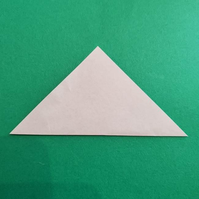 スイカと猫(ネコ)の折り紙は簡単♪③にゃんこ(14)