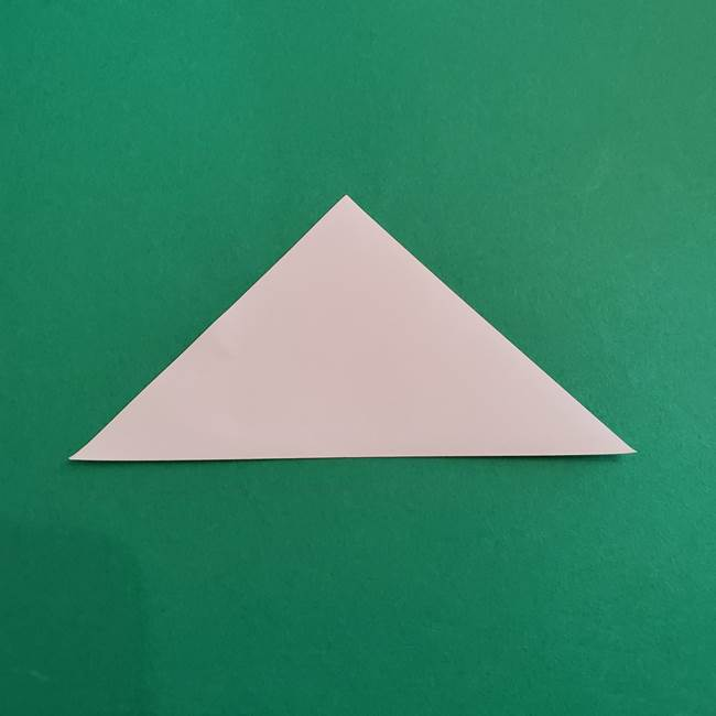 スイカと猫(ネコ)の折り紙は簡単♪③にゃんこ(2)