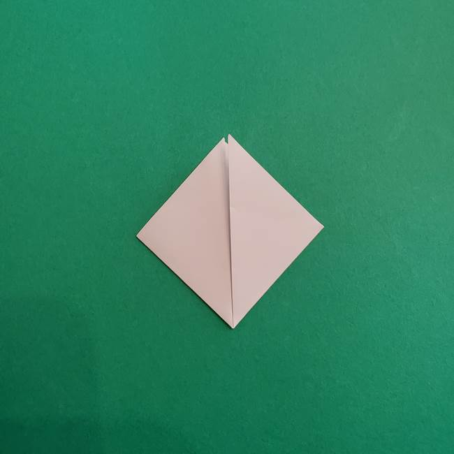 スイカと猫(ネコ)の折り紙は簡単♪③にゃんこ(3)