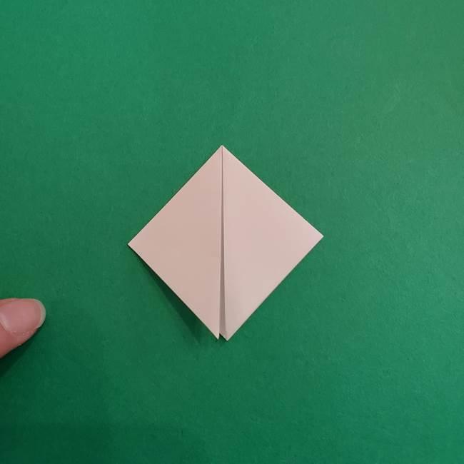 スイカと猫(ネコ)の折り紙は簡単♪③にゃんこ(4)