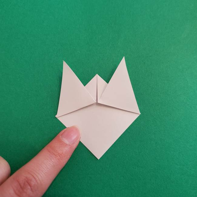 スイカと猫(ネコ)の折り紙は簡単♪③にゃんこ(5)