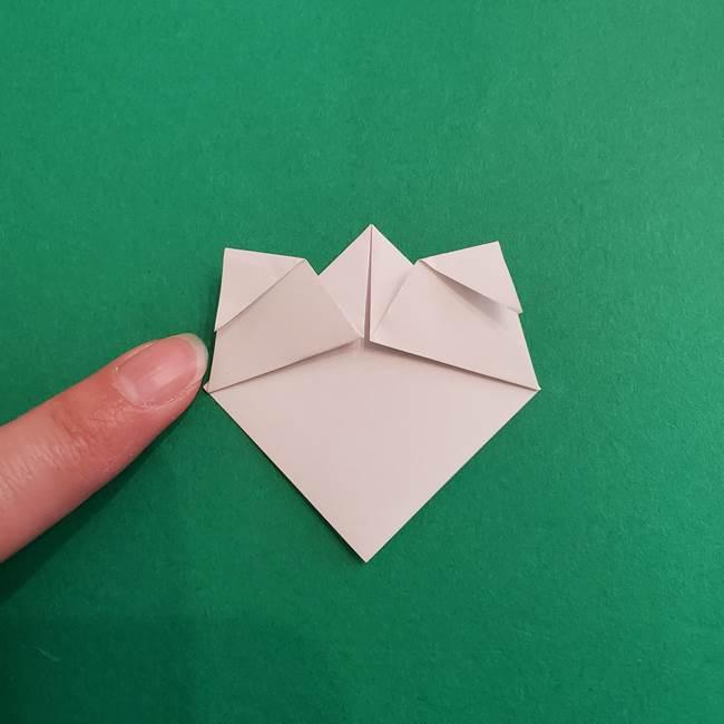 スイカと猫(ネコ)の折り紙は簡単♪③にゃんこ(6)