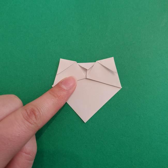 スイカと猫(ネコ)の折り紙は簡単♪③にゃんこ(7)