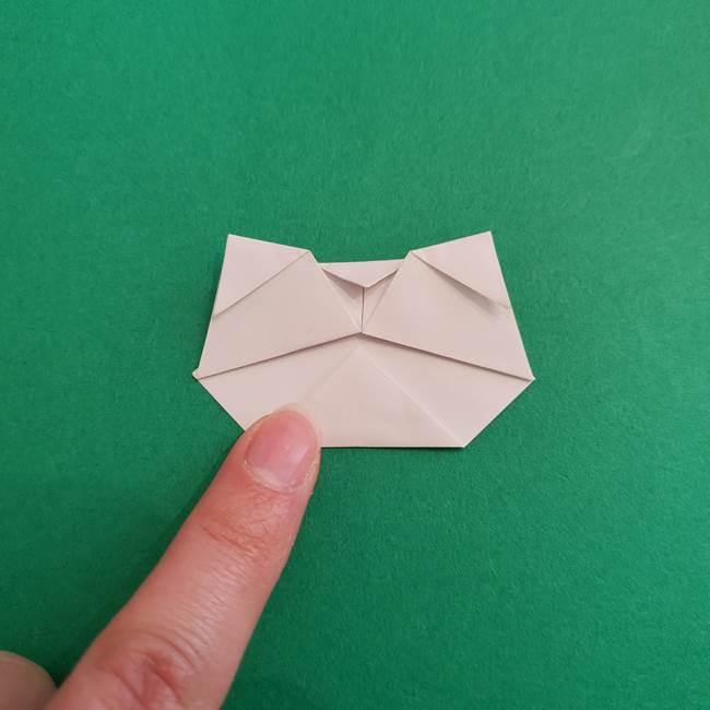 スイカと猫(ネコ)の折り紙は簡単♪③にゃんこ(8)