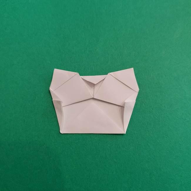 スイカと猫(ネコ)の折り紙は簡単♪③にゃんこ(9)