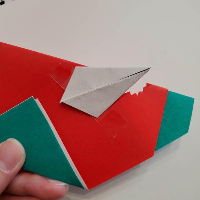スイカと猫(ネコ)の折り紙は簡単♪④完成(2)