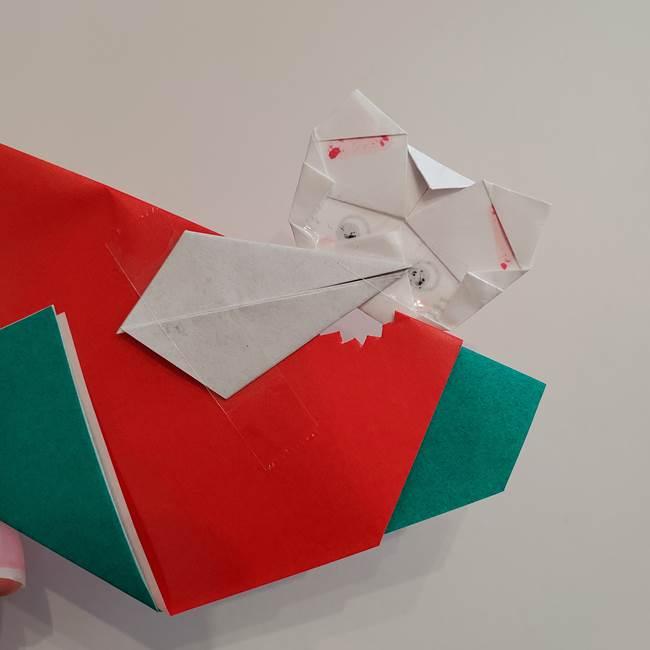 スイカと猫(ネコ)の折り紙は簡単♪④完成(3)