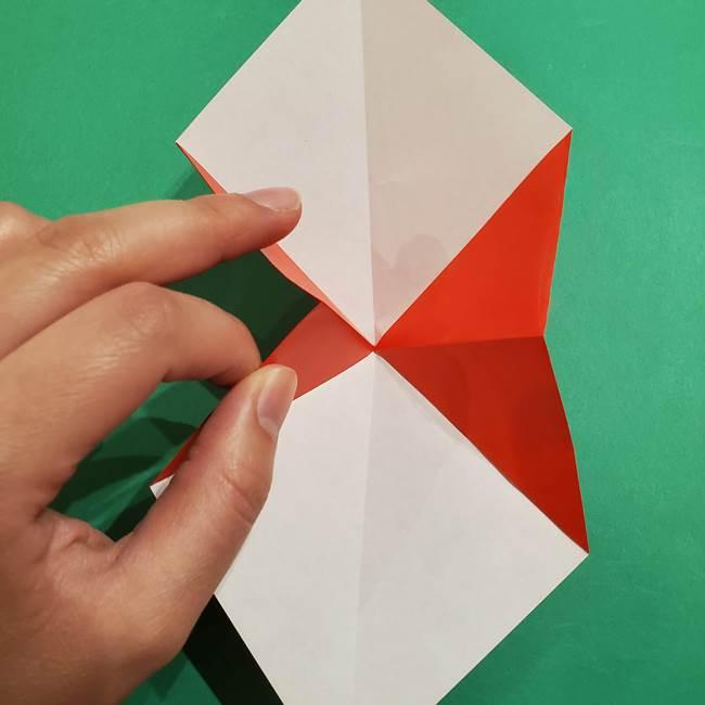 スイカの折り紙 両面とも三角になる作り方折り方(11)