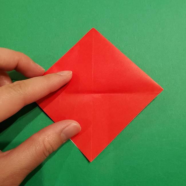 スイカの折り紙 両面とも三角になる作り方折り方(15)