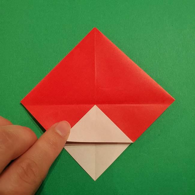 スイカの折り紙 両面とも三角になる作り方折り方(16)