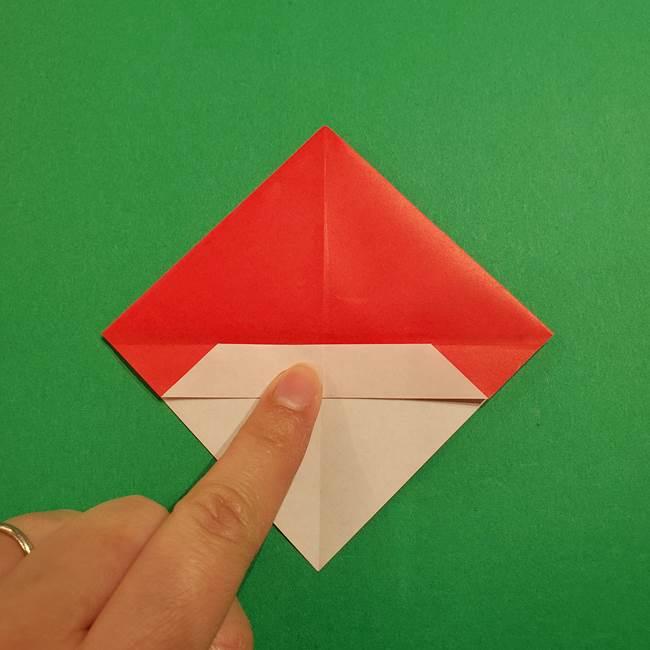 スイカの折り紙 両面とも三角になる作り方折り方(17)